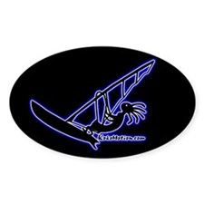 Kokopelli Windsurfer Oval Decal