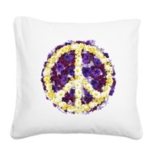 Flowers of Peace Square Canvas Pillow