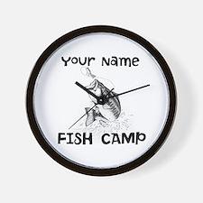 Personlize Fish Camp Wall Clock