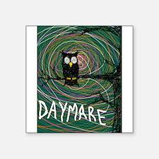 "creepy owl daymare Square Sticker 3"" x 3"""