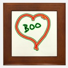 i love boo Framed Tile