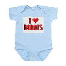 I LOVE ROBOTS SHIRT TEE SHIRT Infant Creeper
