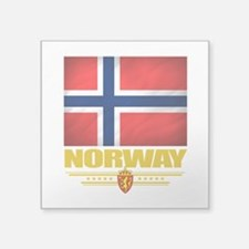 "Norway2 (Flag 10).png Square Sticker 3"" x 3"""