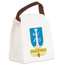 Drammen (Flag 10).png Canvas Lunch Bag