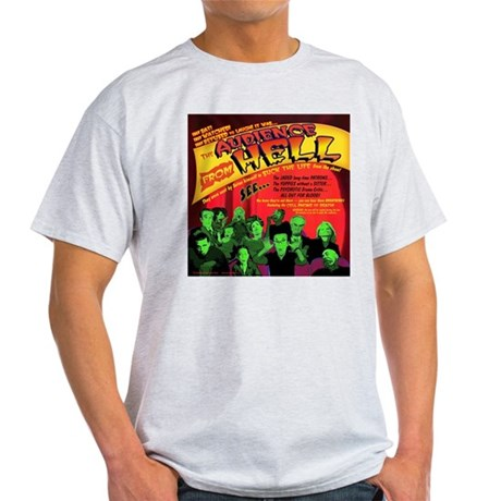 Audience From Hell Horror Movie Ash Grey T-Shirt
