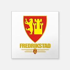 "Fredrikstad (Flag 10).png Square Sticker 3"" x 3"""