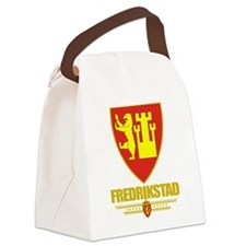 Fredrikstad (Flag 10).png Canvas Lunch Bag