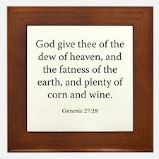 Genesis 27:28 Framed Tile