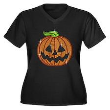 Printed Rhinestone Jackolantern Pumpkin Plus Size