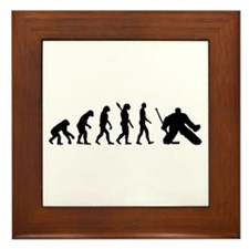 Evolution hockey goalie Framed Tile