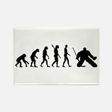 Evolution hockey goalie Rectangle Magnet