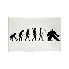 Evolution hockey goalie Rectangle Magnet (10 pack)
