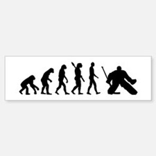 Evolution hockey goalie Bumper Bumper Sticker