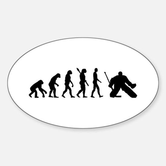 Evolution hockey goalie Sticker (Oval)