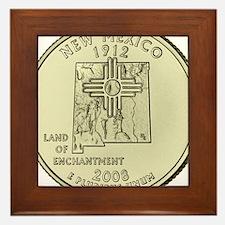 New Mexico Quarter 2008 Basic Framed Tile