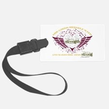 Makes Her Arms Strong - Dark Luggage Tag
