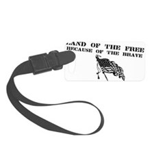 Cute Support the troops Luggage Tag