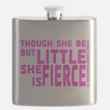 She is Fierce - Stamped Pink Flask