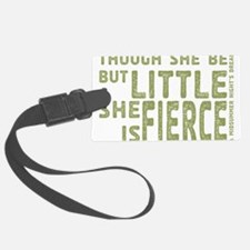 She is Fierce - Stamped Olive Luggage Tag