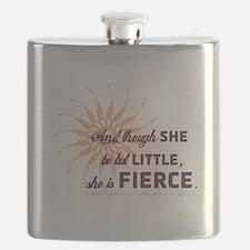 She Is Fierce - Burst Flask