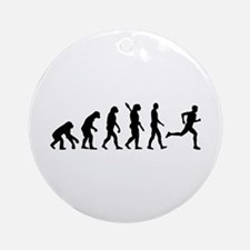 Evolution running marathon Ornament (Round)