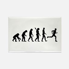 Evolution running marathon Rectangle Magnet