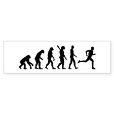Evolution running marathon Bumper Sticker