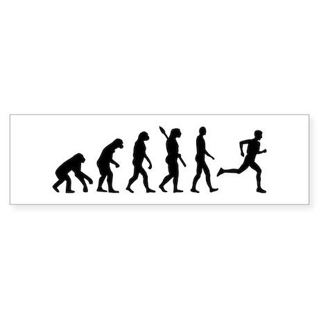 Evolution running marathon Sticker (Bumper)