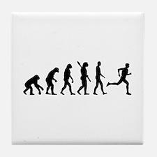 Evolution running marathon Tile Coaster