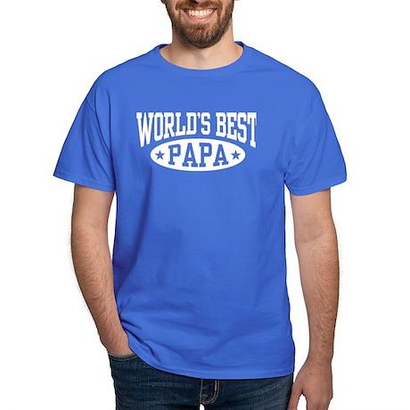 World's Best Papa Dark T-Shirt