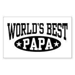 World's Best Papa Sticker (Rectangle)