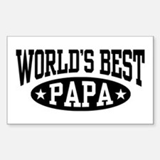 World's Best Papa Sticker (Rectangle)