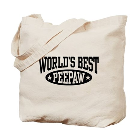 World's Best PeePaw Tote Bag