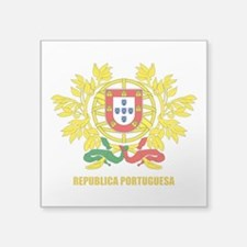 """Portugal Coat of Arms.png Square Sticker 3"""" x 3"""""""