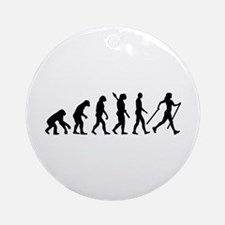 Evolution Nordic Walking Ornament (Round)