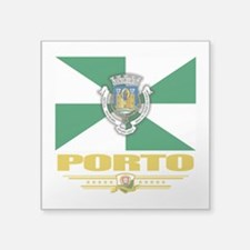 "Porto (Flag 10)1.1.png Square Sticker 3"" x 3"""