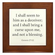 Genesis 27:12 Framed Tile