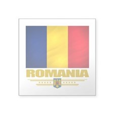 "Romania (Flag 10).png Square Sticker 3"" x 3"""