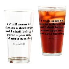 Genesis 27:12 Drinking Glass