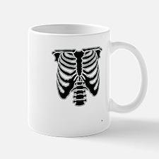 rib cage black and white Halloween costume Mug