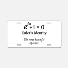 Beautiful Eulers Identity Aluminum License Plate