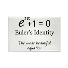 Beautiful Eulers Identity Rectangle Magnet