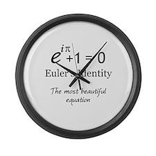 Beautiful Eulers Identity Large Wall Clock