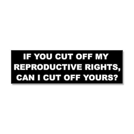 Reproductive Rights Car Magnet 10 x 3