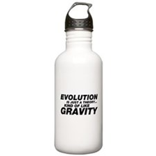Evolution Just a Theory Water Bottle