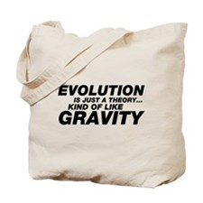 Evolution Just a Theory Tote Bag