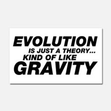 Evolution Just a Theory Car Magnet 20 x 12