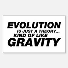 Evolution Just a Theory Sticker (Rectangle)