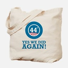 Obama Yes We Did AGAIN Tote Bag