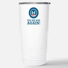 Obama Yes We Did AGAIN Travel Mug